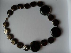 Kazuri ceramic bead necklace