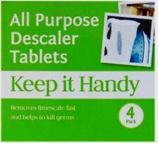ALL PURPOSE DESCALER LIMESCALE 4 TABLETS COFFEE MACHINE KETTLE IRON DESCALER