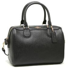NWT Coach F57521 F32202 Crossgrain Leather Mini Bennett Satchel Handbag Black GB