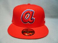 New Era 59fifty Atlanta Braves Retro Throwback BRAND NEW Fitted cap hat ATL MLB