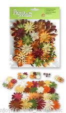Glitter Fabric 50 pc Value Pack EARTH TONE Flora Doodle Sizes 12-110mm Petaloo I