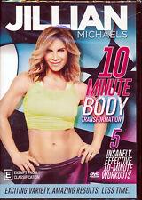 Jillian Michaels 10 Minute Body Transformation DVD NEW Region 4