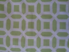 New Pottery Barn Harper Lattice Green White Crib Sheet
