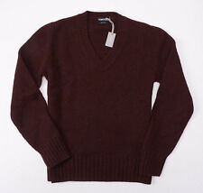 NWT $1290 TOM FORD 100% Cashmere Classic V-Neck Sweater M (Eu 48) Reddish-Brown