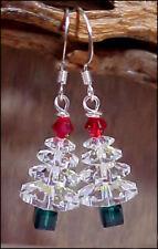 Swarovski Crystal 'Crystal AB' Element Christmas Tree Earrings #1