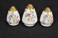 Limoges Elite Bawo & Dotter BWD29 Violets Pompadour Set of 3 Shakers (Faults)