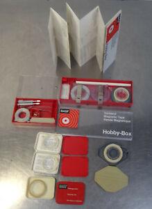 BASF Hobby Box Tonband Reparatur Set und weitere geöffnete Teilpackungen