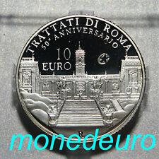 (56) ITALIA 2007 10 EUROS PLATA PROOF TRATADO DE ROMA