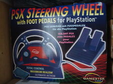 Gamester LMP Playstation One PS1 PSX Steering Wheel With Foot Pedals BNIB