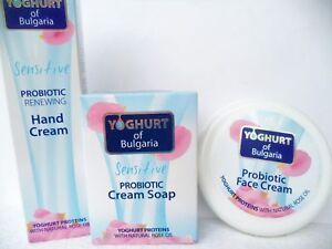 BioFresh YOGHURT of Bulgaria set: Probiotic cream+hand cream+soap with rose oil