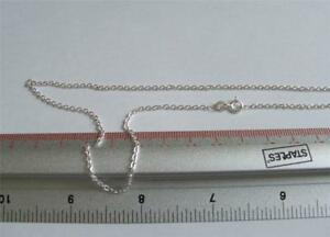 New Sterling Silver Trace  Necklace Chain 26 In 5 Grams 2mm Link & Gift Pouch