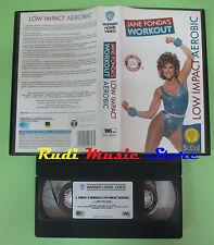 VHS film JANE FONDA'S WORKOUT Low impact aerobic WARNER GLI SCUDI (F51)*no dvd
