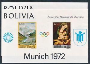 BOLIVIA C318-19A MINT NH 1972 OLYMPIC SOUVENIR SHEETS