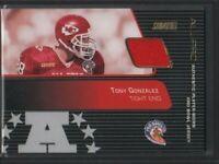 Tony Gonzalez All-Pro Pro Bowl Jersey Card Stadium Club TOPPS SP-TG 040419DBCD