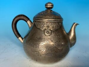 NICE JAPANESE 19TH C ANTIQUE SILVER TEAPOT