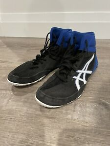 ASICS Kid Wrestling Shoes BLUE/BLACK/White Size 7.5 - Preowned