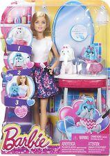 Barbie Color me lindo salón Barbie Muñeca & adorable Color Cachorro Perro Mattel Nuevo