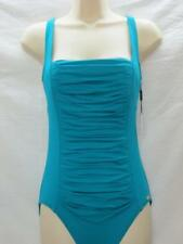NWT Calvin Klein One Piece Rouched Swimsuit Lagoon Green Color Size 6