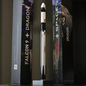 SpaceX Model Falcon 9 Crew Dragon, Made of  precision aluminum
