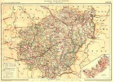 Corrèze. département. département. inserción plan de Tul 1904 Antiguo Mapa Antiguo