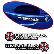 4 * Car Door Handle Sticker Car Accessories Resident Evil Umbrella Decal Decor