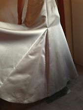 LAUNDRY SHELLI SEGAL $495 SILVER GRAY BRIDESMAID EVENING FORMAL DRESS GOWN 6 / S