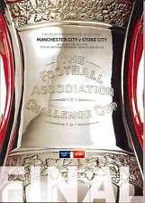 F A CUP FINAL 2011 MAN CITY v STOKE MINT PROGRAMME MANCHESTER