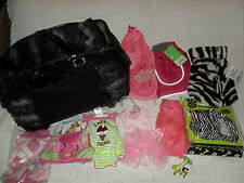 ANCOL PATENT CROC PET CARRIER /7 DOG CLOTHES/ BODY HARNESS & LEAD NEW XSMALL