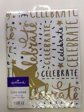 Giftwrap Celebrate Birthday Wedding Glitter 1 Sheets And 1 Tag Hallmark