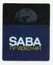 VECCHIO RARO ADESIVO SABA TV VIDEO HIFI