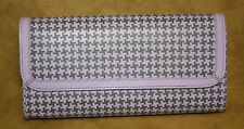 Baekgaard Purse Oversized Clutch Haute Houndstooth Purple Gray Grey purse NEW