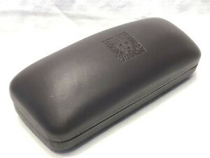 Anne Klein Brown Hard Side Clamshell Protective Sunglasses Eyeglasses Case