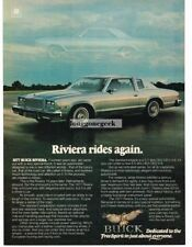 1977 Buick Riviera Gray 2-door coupe Vtg Print Ad