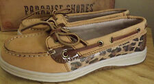PARADISE SHORES DECK/ BOAT SHOES WOMEN'S NWOT  SIZE 5M  SIESTA TAN brand new
