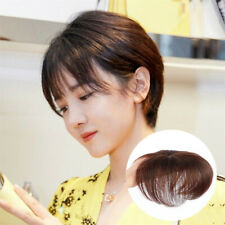 Human Hair Short Straight Front Clip in Topper Hairpiece Cover Thin Hair toupee