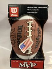 Vintage Wilson Nfl Official Size Football Leather Ball Mvp New In Box