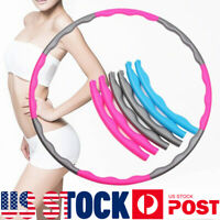 Details about  /Fitness Hula Hoop Detachable Home Exercise Lose Weight Workout Adult Hoola US