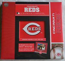 Cincinnati Reds Baseball Premade Complete Scrapbook Photo Album 12x12