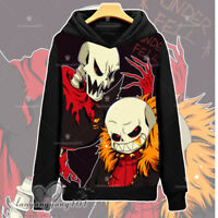 Undertale Sans And Papyrus Anime Pullover Unisex Hooded Sweatshirt Coat #Dl49