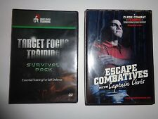 New Sealed Target Focus Training Survival Pack Self-Defense 3 DVD & Close Combat