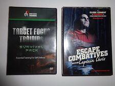 New Sealed Target Focus Training Survival Pack Self-Defense 3 DVD & Close Combat