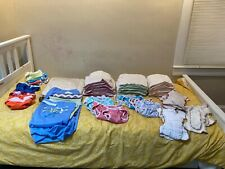Big lot of cloth diapers / Green Mountain Diapers / Cloth-Eez / Thirsties
