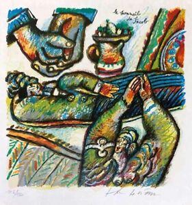"Theo Tobiasse ""Jacob"" Original Lithograph S/N"