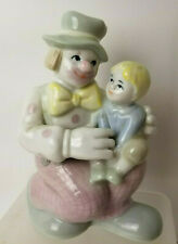 Clown and Child Porcelain Figurine Excel Prestige Collectors Club Mcmxc 1990