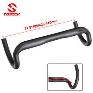 TOSEEK Road Bike 31.8*400/420/440mm Full Carbon Handlebar Drop Bar Susperlight