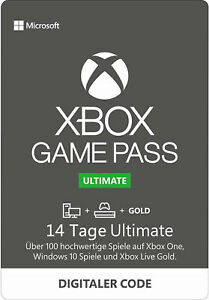 Xbox Game Pass Ultimate 14 Tage Live Gold + Game Pass Xbox One / PC Win 10 Codes