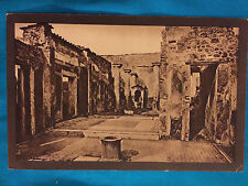 Pompei House of the Tragic Poet Publisherco A. Sorocchi Milano Vintage Postcard