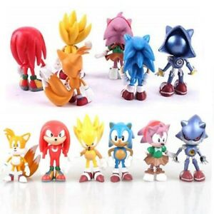 6pcs/set 7cm Sonic The Hedgehog Figures Toy PVC Characters for Kids Xmas Gift