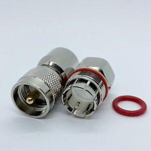 """1pc Connector PL259 UHF male 1/2"""" for Corrugated copper Standard Andrew Heliax"""