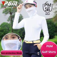 Summer Women Sunscreen Golf Shirts Long-Sleeve Ice Silk Cooling T-Shirt Tops